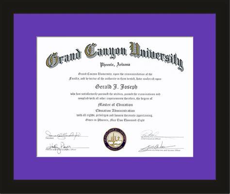 Grand Canyon University Diploma Frames For
