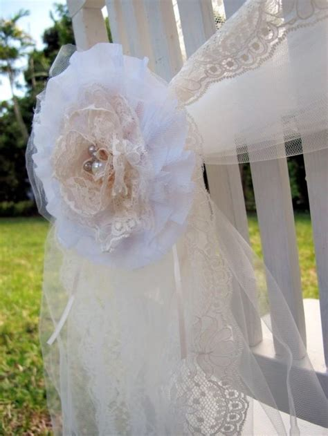 shabby chic wedding decorations aus set of shabby chic lace and pearls flower brooch decoration perfect for an elegant wedding