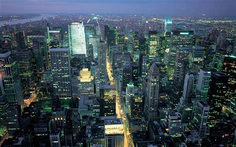 evening city  york usa desktop wallpapers