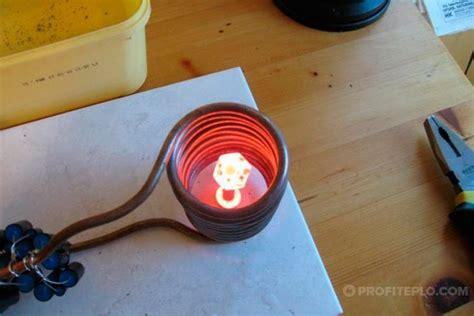Вихревой индукционный нагреватель питается от инверторного.