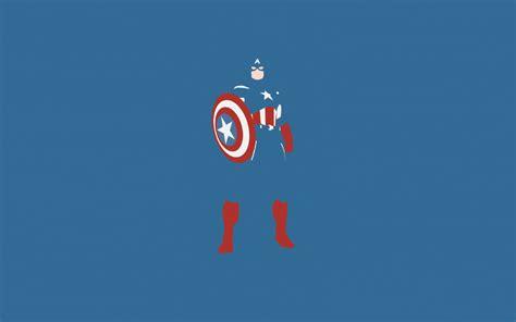 Captain America Marvel Comics Minimalism, Full Hd Wallpaper