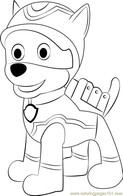 Super Spy Chase Coloring Page Free PAW Patrol Coloring