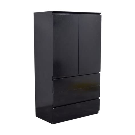 Black Wardrobe by 90 Black Lacquer Wardrobe Or Tv Console Storage