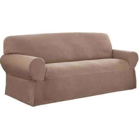 mainstays 1 piece stretch fabric sofa slipcover walmart com
