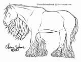 Gypsy Vanner Coloring Horse Pages Draft Lines Deviantart Template Coldblooded Sketch Templates sketch template
