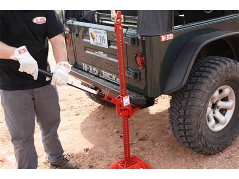 Authentic Cast Iron Lift Jack Red Jeep Wrangler
