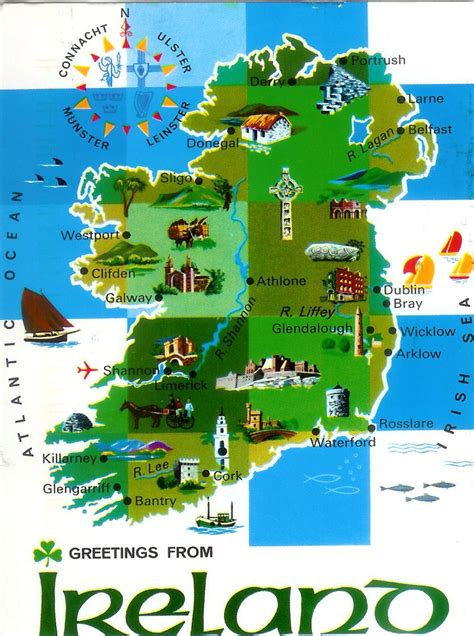 map  ireland remembering letters  postcards