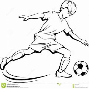 Boy Soccer Player With Splatter Ball Royalty Free Stock ...