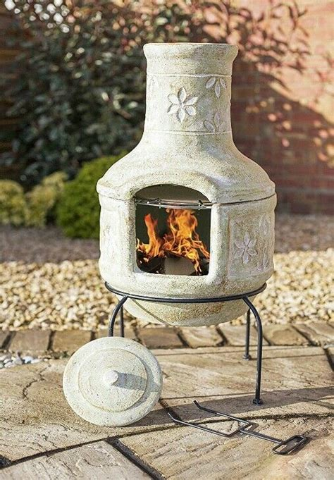 Chiminea Lids - outdoor pizza oven chiminea clay bbq grill patio heater