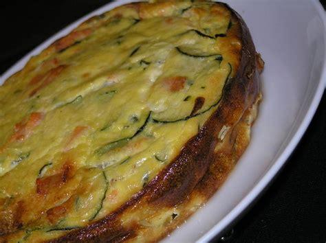 cuisiner saumon flan de courgettes au saumon cuisiner facile légumes