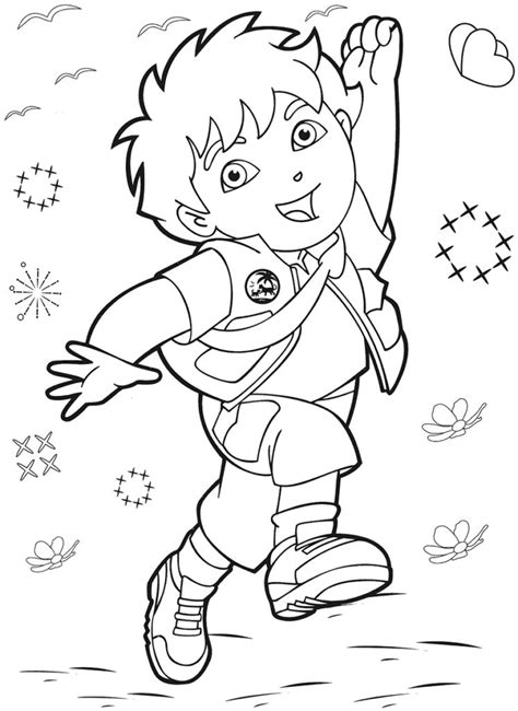Coloring Pages: Dora The Explorer Coloring Pages Dora The