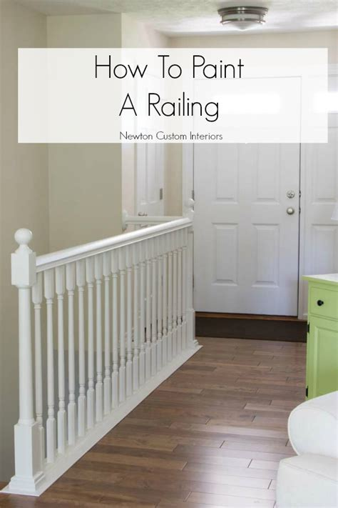 painting a banister white how to paint stair railings newton custom interiors