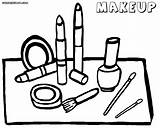 Coloring Makeup Pages Face Tools Printable Coloringway Colorings sketch template
