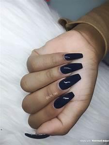 fall nails navy blue nails coffin nails nails winter