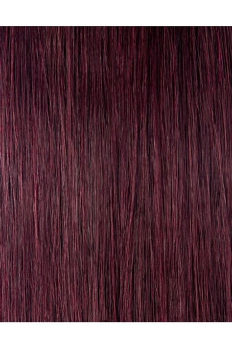 clip  hair extensions dark wine  color