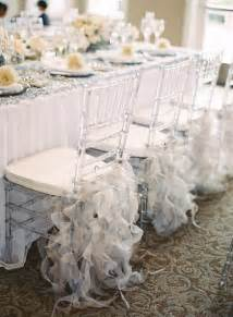 Decorating Wedding Chairs with Tulle