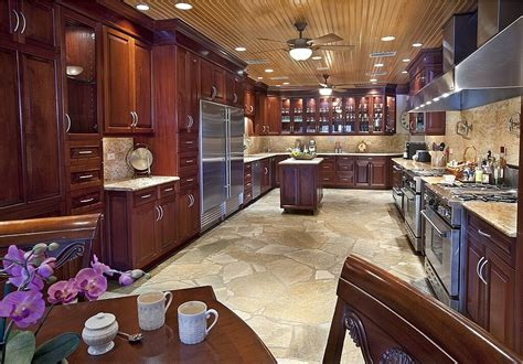 marble flooring for kitchen 49 contemporary high end wood kitchen designs 7367