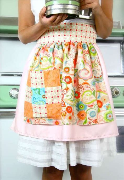 retro apron allfreesewingcom