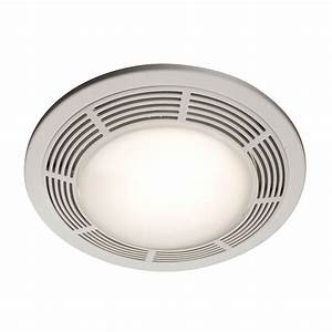 shop nutone 35 sone 100 cfm polymeric white bathroom fan With round bathroom fan light combination