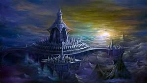 Castles digital art fantasy fortress wallpaper ...