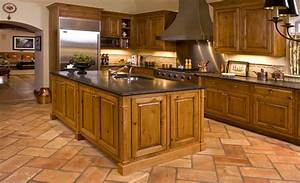 sumptuous knotty alder cabinets trend chicago rustic With kitchen floor ideas for country french kitchen