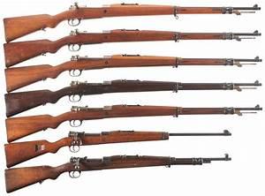 Seven Bolt Action Military Rifles