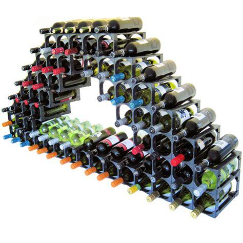 cellarstak  bottle plastic wine rack black