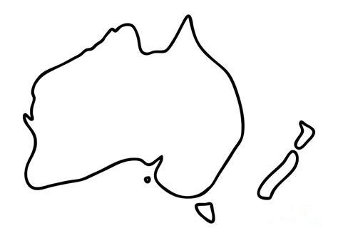 australia zealand downunder map drawing by lineamentum