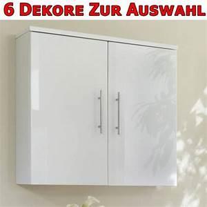 Hängeschrank Für Badezimmer : badezimmer schrank h ngeschrank h nger hochglanz wei ebay ~ Whattoseeinmadrid.com Haus und Dekorationen