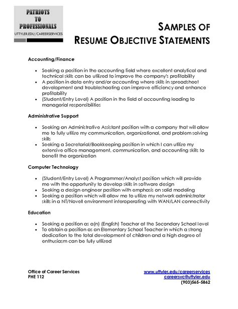 Resume Objective Statements Exles by Sle Resume Objective Statement Adsbygoogle Window