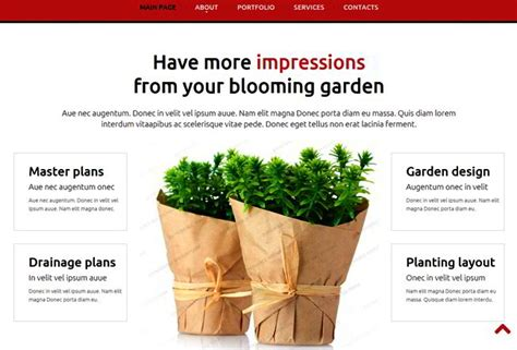 bootstrap template gardening 15 newest web templates at websitetemplates org website