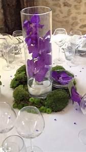 Grand Bac Pour Orchidées : d coration de mariage par 1001 id es mousse et orchid es violettes youtube ~ Melissatoandfro.com Idées de Décoration
