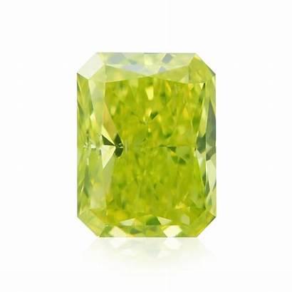 Vivid Yellow Fancy Radiant Diamond Diamonds Si1