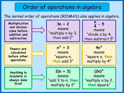 Order Of Operations (bidmas) In Algebra  Maths Tutorials Youtube