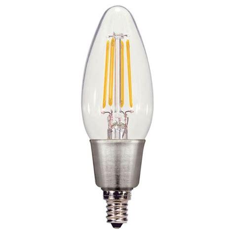 satco s9568 candelabra e12 torpedo led vintage filament