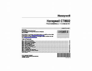 Honeywell Ct8602 Programmable Thermostat Owners Guide