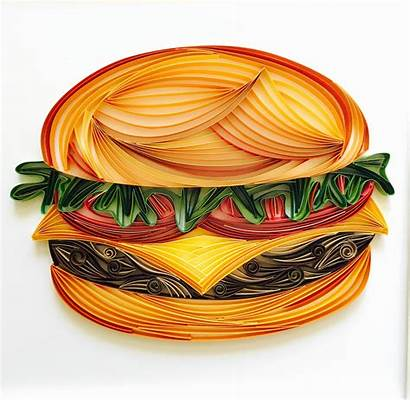 Quilling Paper Quilled Examples Amazing Burger Marlene