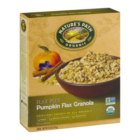 Natures Path Pumpkin Flax Granola Healthy by Nature S Path Organic Flax Plus Pumpkin Flax Granola