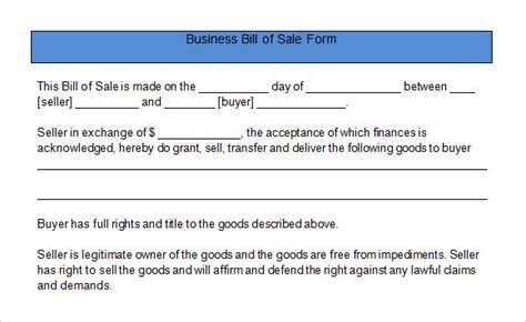 sample business bill  sale form   word