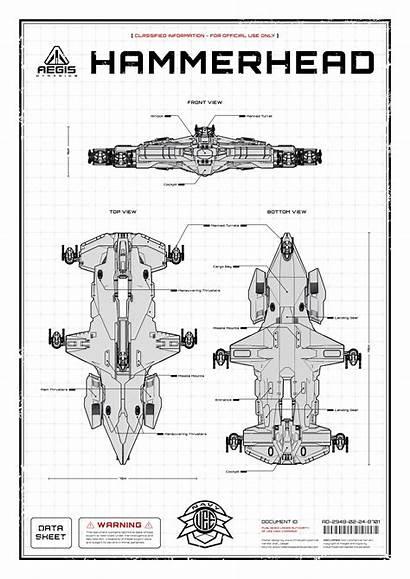 Citizen Star Poster Hammerhead Aegis Ships Concept