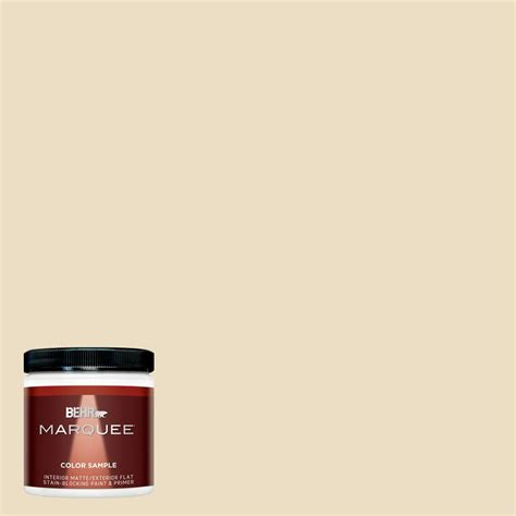 behr marquee 8 oz 22 navajo white matte interior exterior paint and primer in one sle