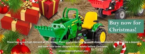 New Peg Perego John Deere Tractor Ride On Toy 12v Battery