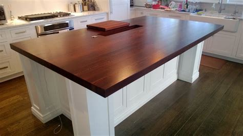 wood slab kitchen island wood countertops gallery custom 1603
