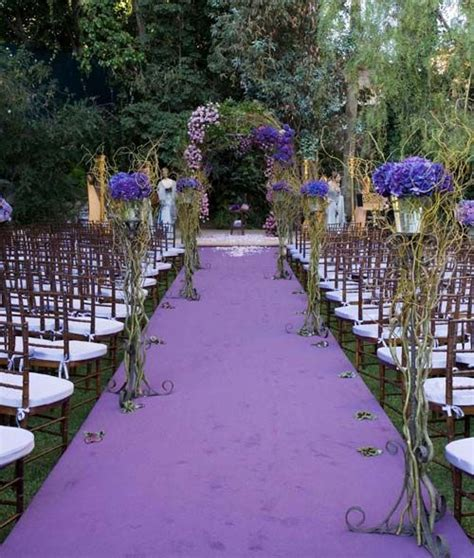 Purple Flower For Garden Wedding Ceremonial Outdoor