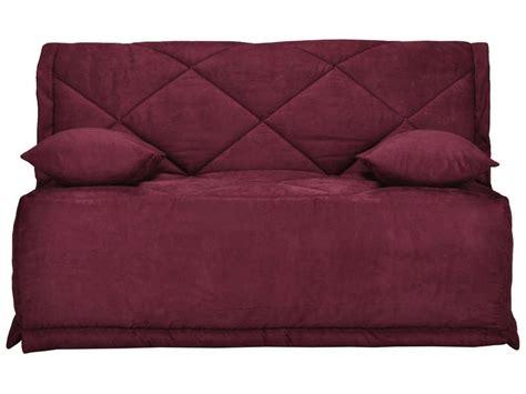housse de canapé bz conforama housse pour bz 140 cm julie coloris prune vente de