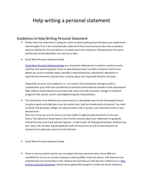 help writing a personal statement 23