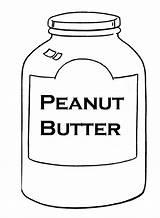 Peanut Butter Coloring Jar Template sketch template