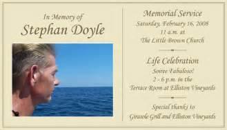 funeral ceremony program stephan 39 s memorial and celebration stephan doyle