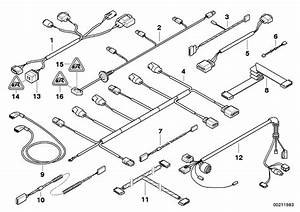 Bmw 525i Set Of Cables  Front Bumper  Exterior  Electrical