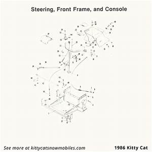 86 Kitty Cat Steering  Frame  And Console Parts